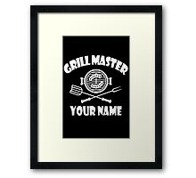 Personalized name grill master geek funny nerd Framed Print