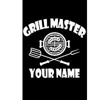 Personalized name grill master geek funny nerd Photographic Print