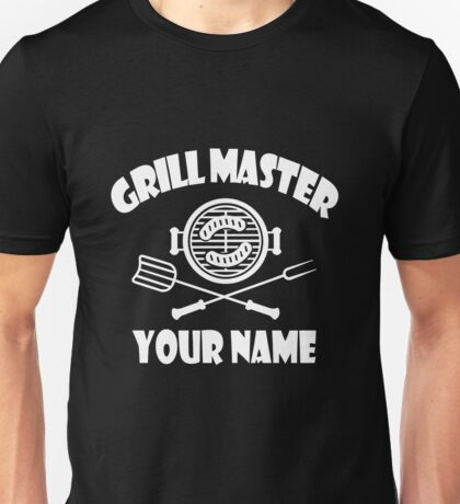 Personalized name grill master geek funny nerd Unisex T-Shirt
