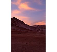 Desert - when the sun goes down Photographic Print