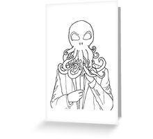 Buisnesstime Cthulhu Greeting Card