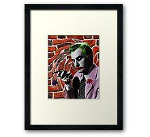 The Joker + Vincent Price Mashup Framed Print