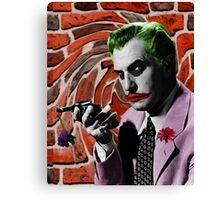 The Joker + Vincent Price Mashup Canvas Print