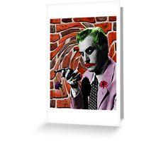 The Joker + Vincent Price Mashup Greeting Card
