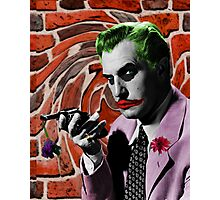 The Joker + Vincent Price Mashup Photographic Print
