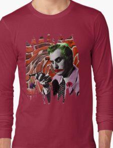 The Joker + Vincent Price Mashup Long Sleeve T-Shirt