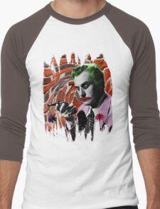 The Joker + Vincent Price Mashup Men's Baseball ¾ T-Shirt