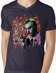 The Joker + Vincent Price Mashup Mens V-Neck T-Shirt