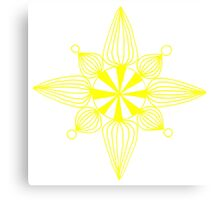 simple star yellow and white Canvas Print