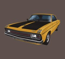 Chrysler Valiant VG Pacer Coupe - Mustard by tshirtgarage