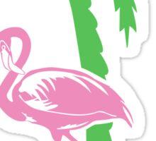 Pink flamingo geek funny nerd Sticker