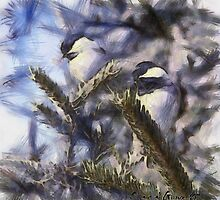 Chickadees by Chantal Giroux