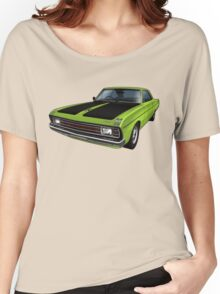 Chrysler Valiant VG Pacer Coupe - Green Go Women's Relaxed Fit T-Shirt