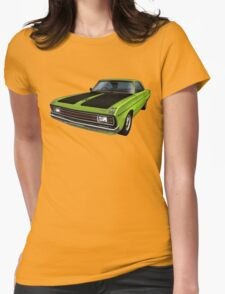 Chrysler Valiant VG Pacer Coupe - Green Go Womens Fitted T-Shirt
