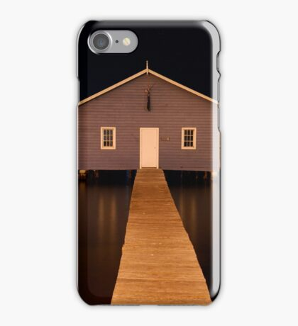 little boatshed on the river iPhone Case/Skin