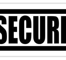 Insecurity Security Guard  Sticker