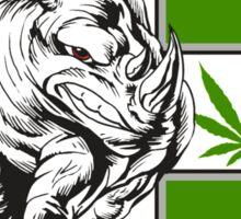 White Rhino Marijuana Sticker