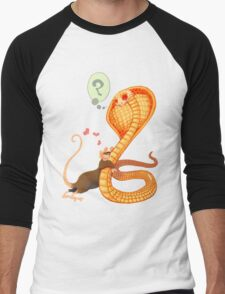 Rat Loves Snake Men's Baseball ¾ T-Shirt