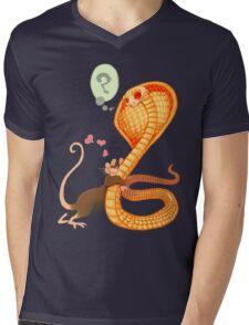 Rat Loves Snake Mens V-Neck T-Shirt