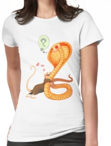 Rat Loves Snake Womens Fitted T-Shirt