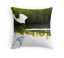 Egret Skimmer Throw Pillow