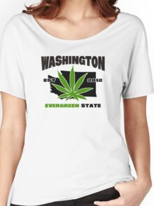 Washington Marijuana Cannabis Weed  Women's Relaxed Fit T-Shirt