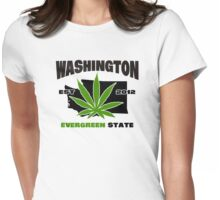 Washington Marijuana Cannabis Weed  Womens Fitted T-Shirt