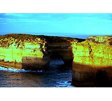 golden cliffs of ozz Photographic Print