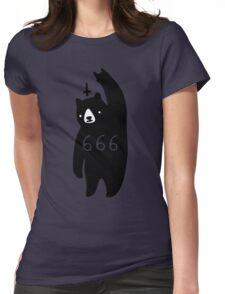 Black Bear Metal Womens Fitted T-Shirt