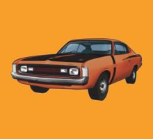 Chrysler Valiant VH Charger - Orange by tshirtgarage