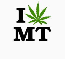 I Love Montana Marijuana Cannabis Weed  Womens Fitted T-Shirt