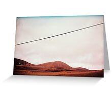 Lanzarote volcano landscape Greeting Card