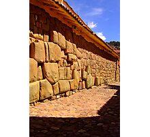Inca stones Photographic Print