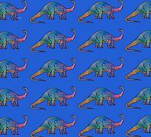 Dinosaur Brontosaurus 5L by mandalafractal
