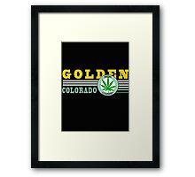 Cannabis Golden Colorado Framed Print