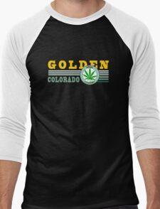 Cannabis Golden Colorado Men's Baseball ¾ T-Shirt
