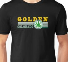 Cannabis Golden Colorado Unisex T-Shirt