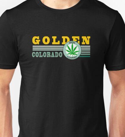 Cannabis Golden Colorado Unisex T-Shirt