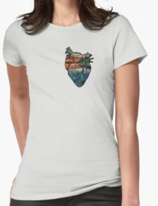 Outdoor Heart Womens Fitted T-Shirt
