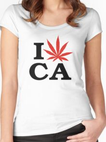 I Love Marijuana Canada Women's Fitted Scoop T-Shirt