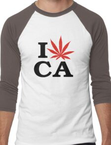 I Love Marijuana Canada Men's Baseball ¾ T-Shirt
