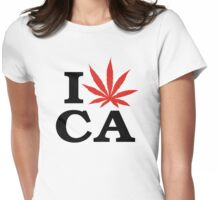 I Love Marijuana Canada Womens Fitted T-Shirt