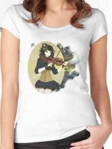 Violin Enamor Women's Fitted Scoop T-Shirt
