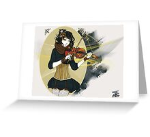Violin Enamor Greeting Card