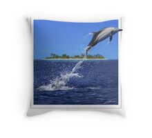STRIPED DOLPHIN Stenella coeruleoalba (NOT A PHOTOGRAPH OR PHOTOMANIP) Throw Pillow