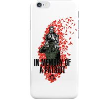 """MGS - """"In Memory Of Patriot"""" iPhone Case/Skin"""