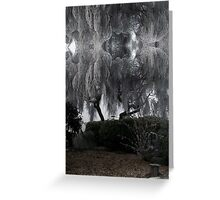 Tree caught in freezing fog Greeting Card