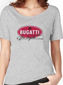 Classic Car Logos: Automobiles Ettore Bugatti (signature) Women's Relaxed Fit T-Shirt