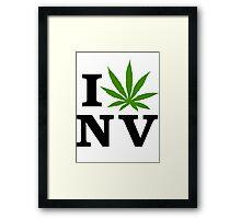 I Love Nevada Marijuana Cannabis Weed  Framed Print