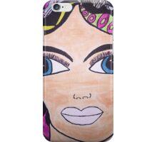 Beautiful Big Blue Eyed Woman iPhone Case/Skin
